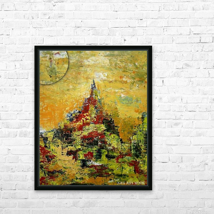 Mount Temple HD Sublimation Metal print with Decorating Float Frame (BOX)