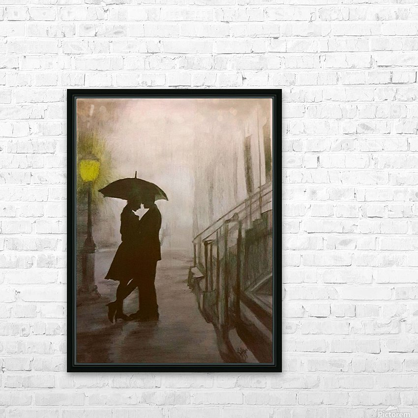 Love in the Rain HD Sublimation Metal print with Decorating Float Frame (BOX)