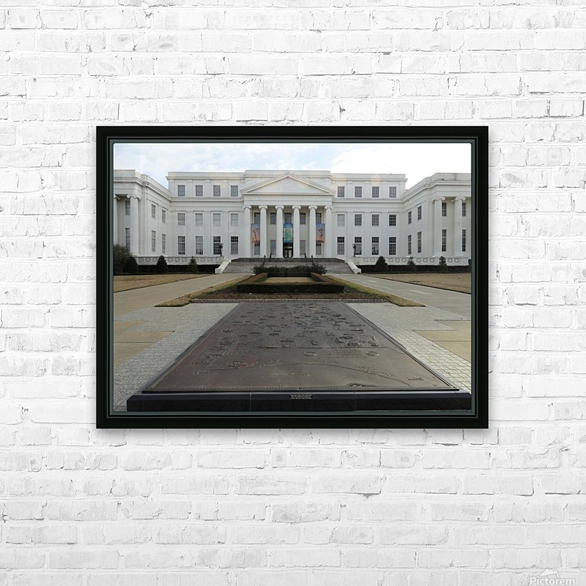 ALABAMA ARCHIVES BUILDING HD Sublimation Metal print with Decorating Float Frame (BOX)