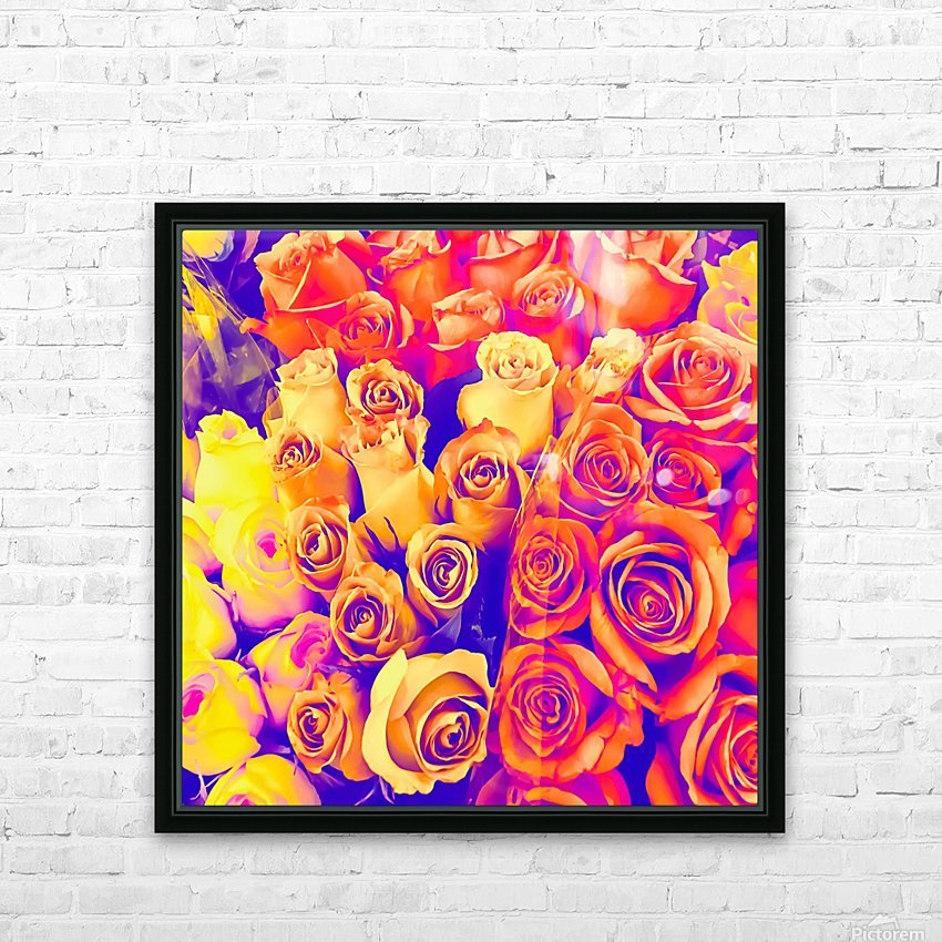 bouquet of roses texture pattern abstract in pink and white HD Sublimation Metal print with Decorating Float Frame (BOX)