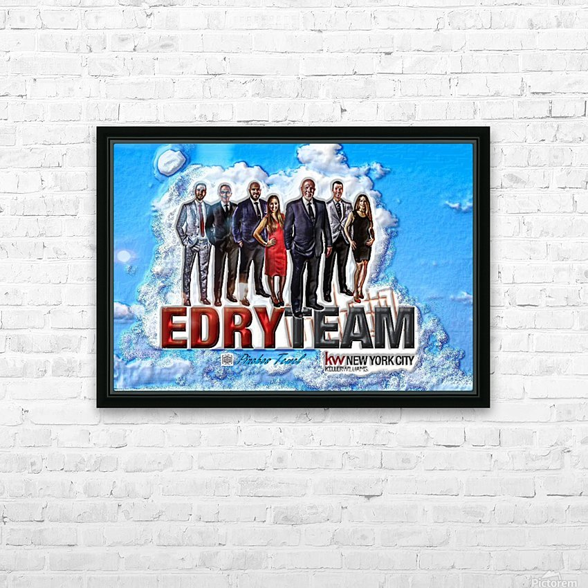Art   Photo  EDRY team 1 HD Sublimation Metal print with Decorating Float Frame (BOX)