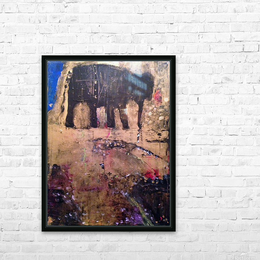 Elephant HD sublimation métal imprimé avec décoration flotteur cadre (boîte)