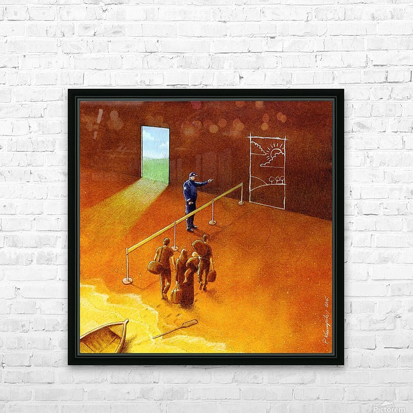 refugees HD Sublimation Metal print with Decorating Float Frame (BOX)