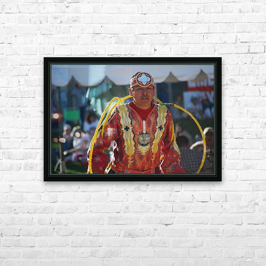 Native American Hoop dance championships 2008 HD Sublimation Metal print with Decorating Float Frame (BOX)