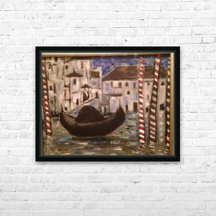 Gondola HD Sublimation Metal print with Decorating Float Frame (BOX)