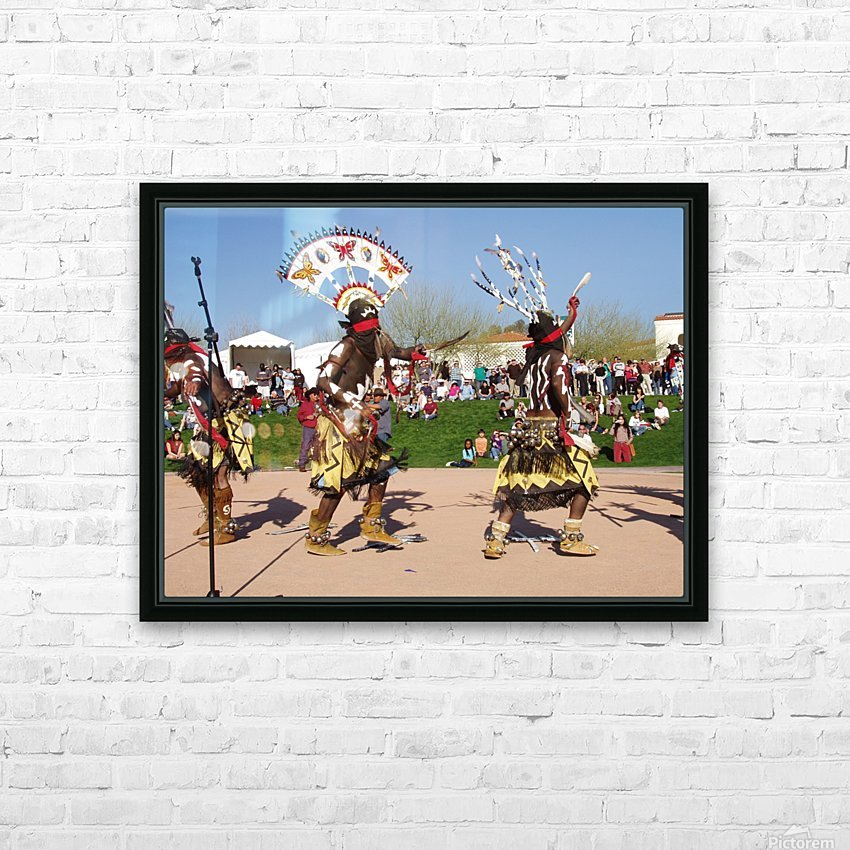 Apache Indian dancers HD Sublimation Metal print with Decorating Float Frame (BOX)