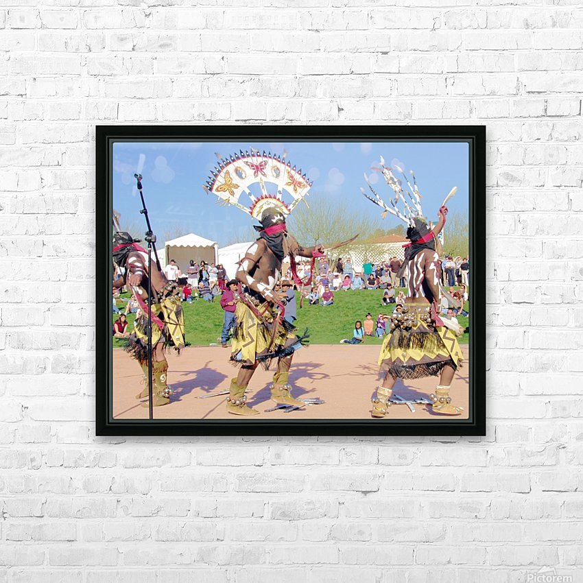 Apache Indian Tribal Ceremony HD Sublimation Metal print with Decorating Float Frame (BOX)