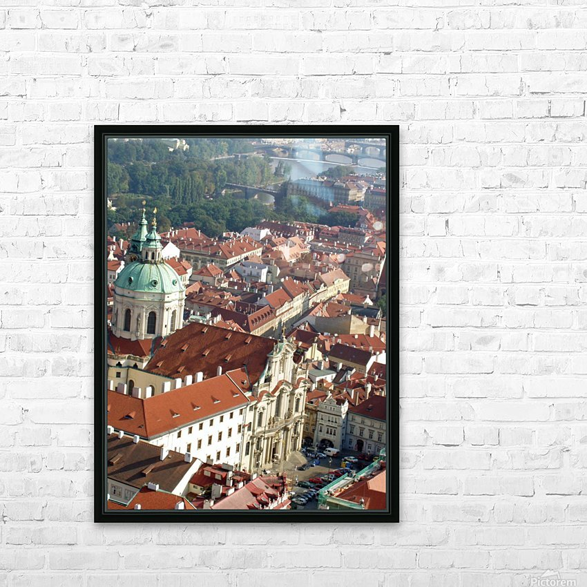 Looking Down on Prague HD Sublimation Metal print with Decorating Float Frame (BOX)