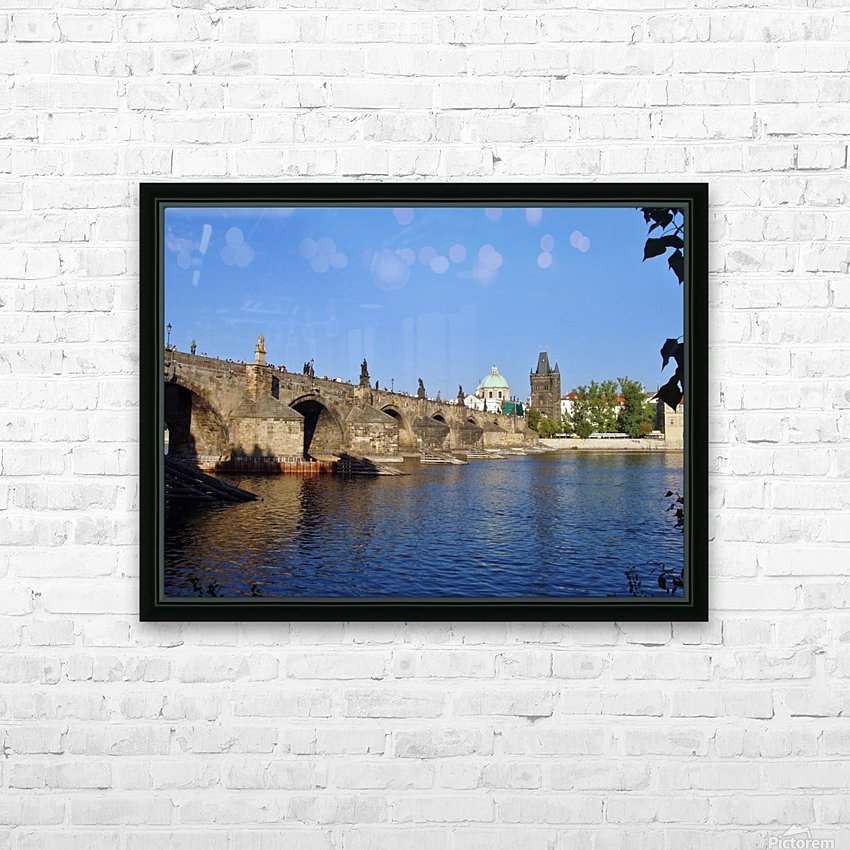 View of The Charles Bridge Prague HD Sublimation Metal print with Decorating Float Frame (BOX)