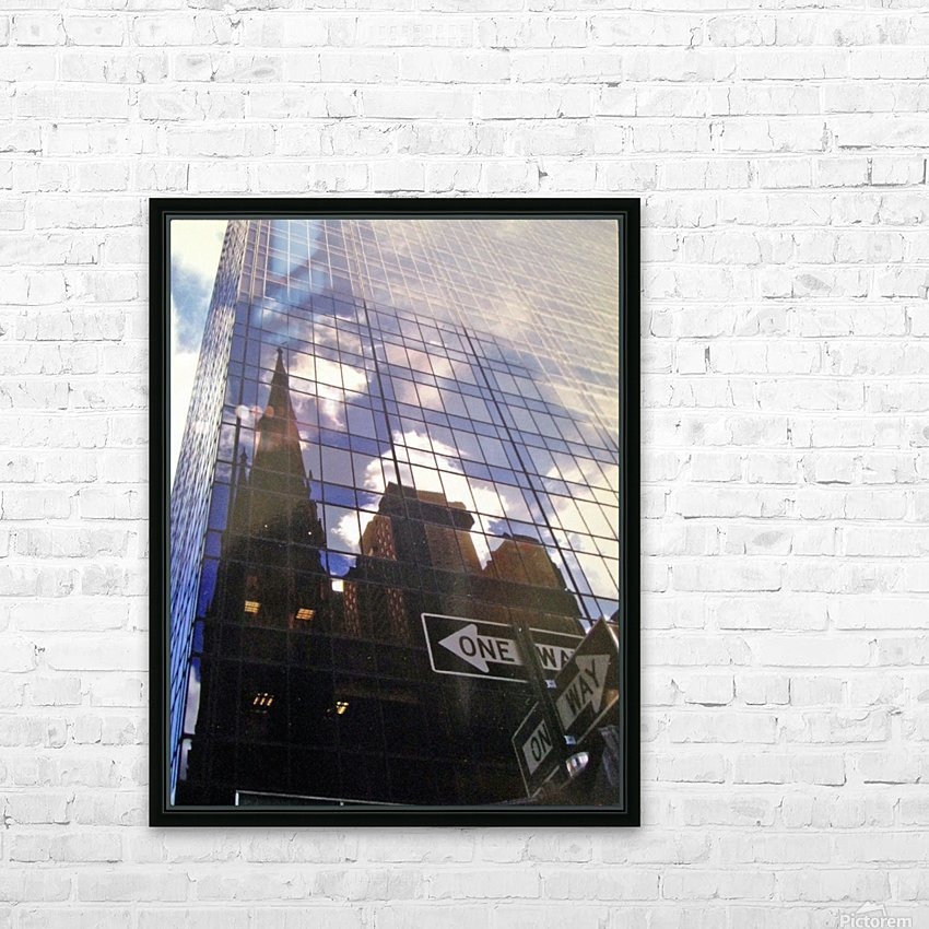 One Way edited HD Sublimation Metal print with Decorating Float Frame (BOX)