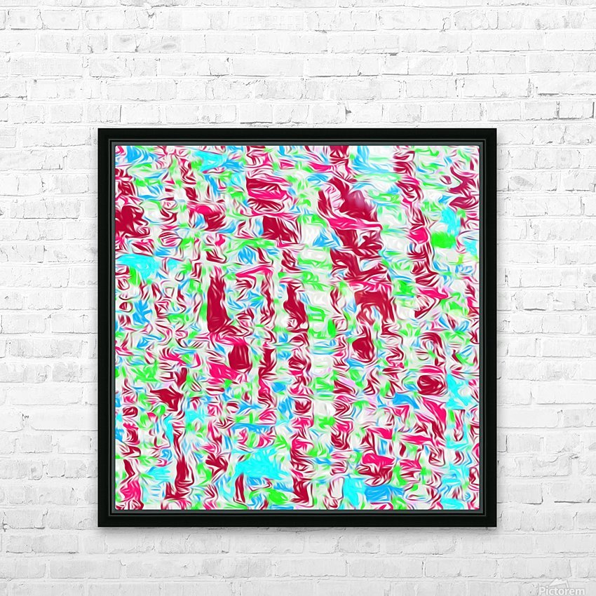 psychedelic painting texture abstract pattern background in pink blue green HD Sublimation Metal print with Decorating Float Frame (BOX)