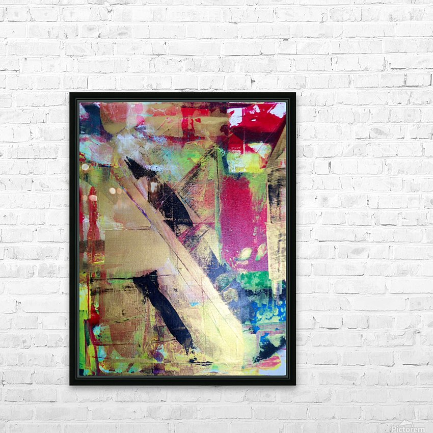 Trieste a Red and Gold Abstract painting HD Sublimation Metal print with Decorating Float Frame (BOX)