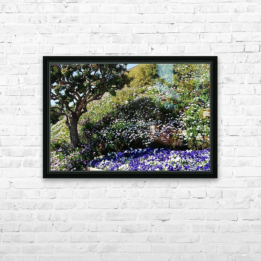 Dana Point Cali flowers on a hill  near sunset  HD Sublimation Metal print with Decorating Float Frame (BOX)