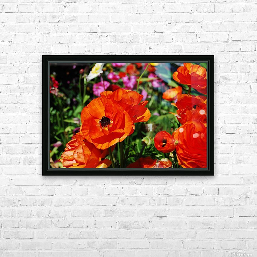 Garden with Flowers HD Sublimation Metal print with Decorating Float Frame (BOX)