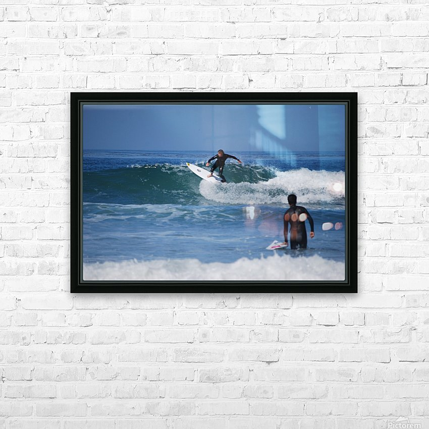 Guy Surfing In California HD Sublimation Metal print with Decorating Float Frame (BOX)
