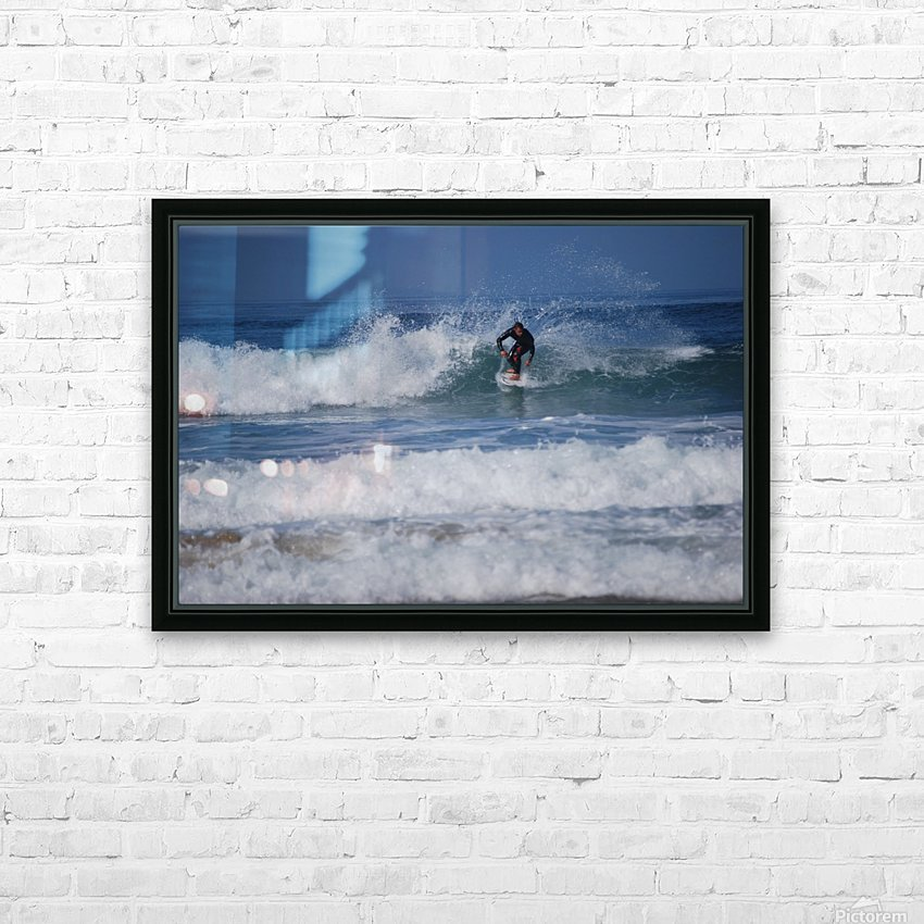 Dana Point surfer HD Sublimation Metal print with Decorating Float Frame (BOX)