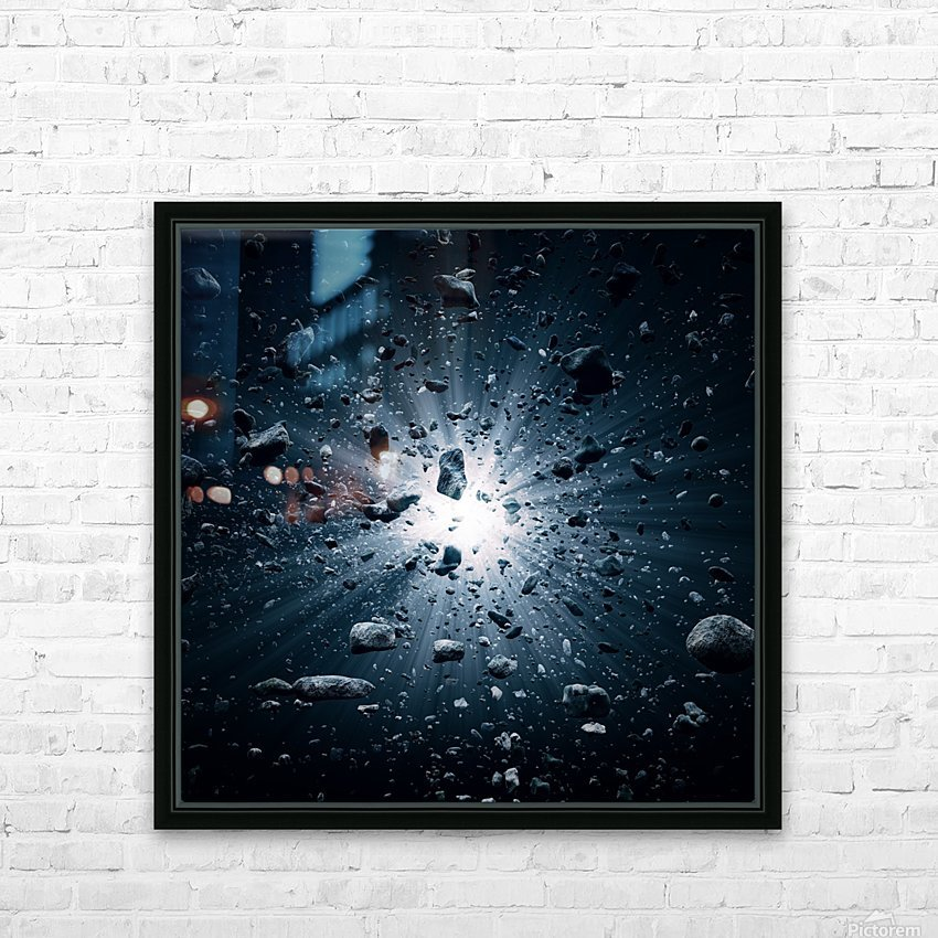 Big Bang explosion in space HD Sublimation Metal print with Decorating Float Frame (BOX)