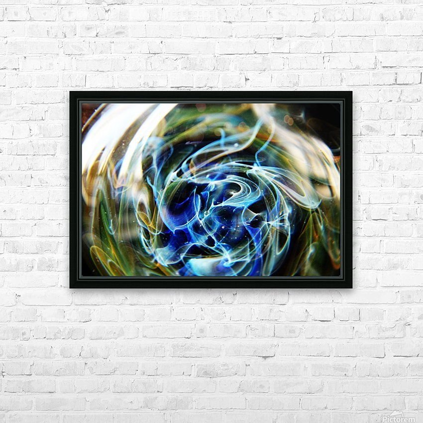 GalaxyInGlassV002 HD Sublimation Metal print with Decorating Float Frame (BOX)