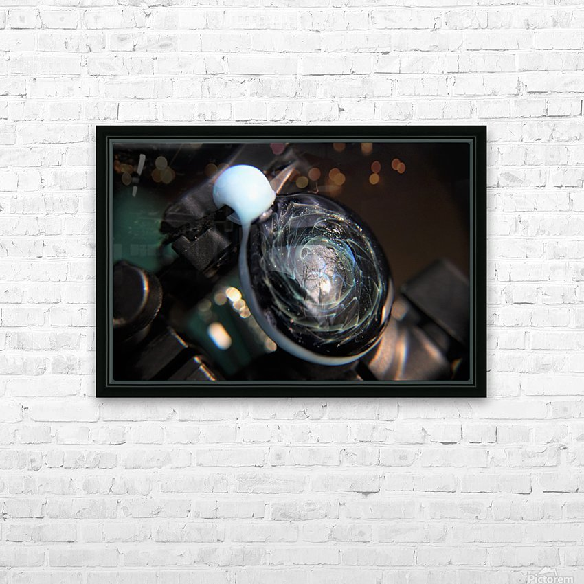 ReflectionInGlassF001 HD Sublimation Metal print with Decorating Float Frame (BOX)
