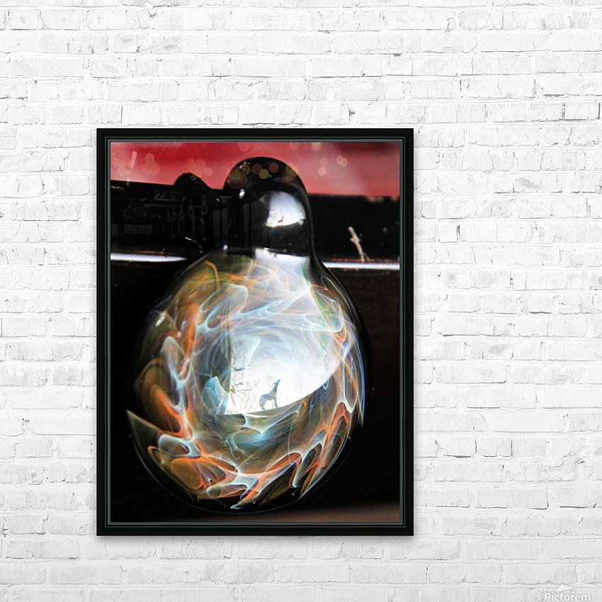 ReflectionInGlassF002 HD Sublimation Metal print with Decorating Float Frame (BOX)