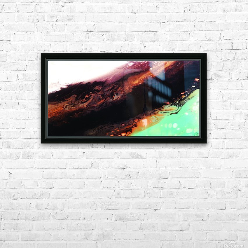 Agate Minimalist Abstract Canvas Painting Metal Artwork HD Sublimation Metal print with Decorating Float Frame (BOX)