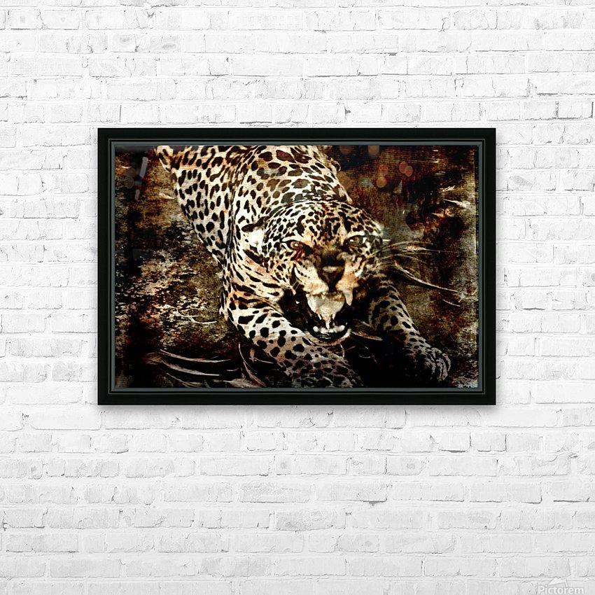 Jaguar Guyana HD Sublimation Metal print with Decorating Float Frame (BOX)