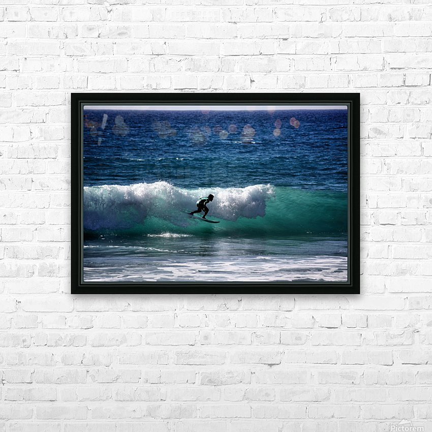 Makaha Hawaii HD Sublimation Metal print with Decorating Float Frame (BOX)