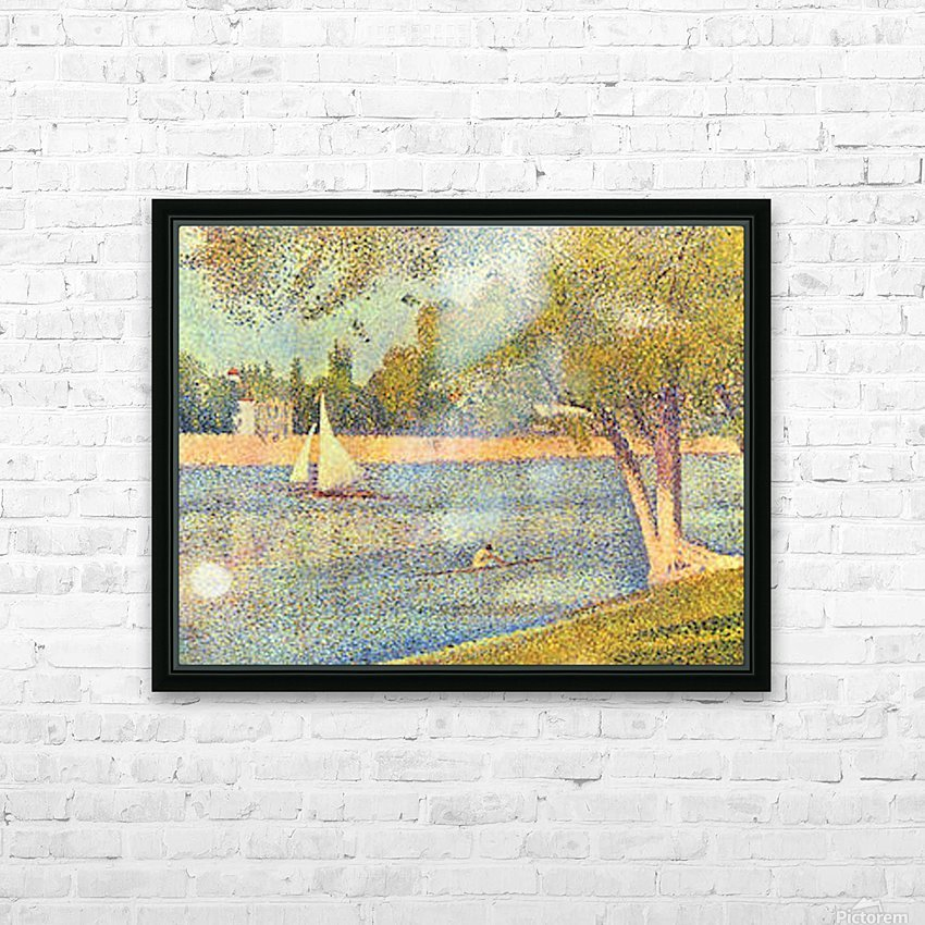 The Seine at the Grand Jatte, Spring by Seurat HD Sublimation Metal print with Decorating Float Frame (BOX)
