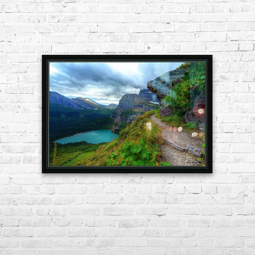 51 -2 Trail to Grinnell Glacier HD Sublimation Metal print with Decorating Float Frame (BOX)