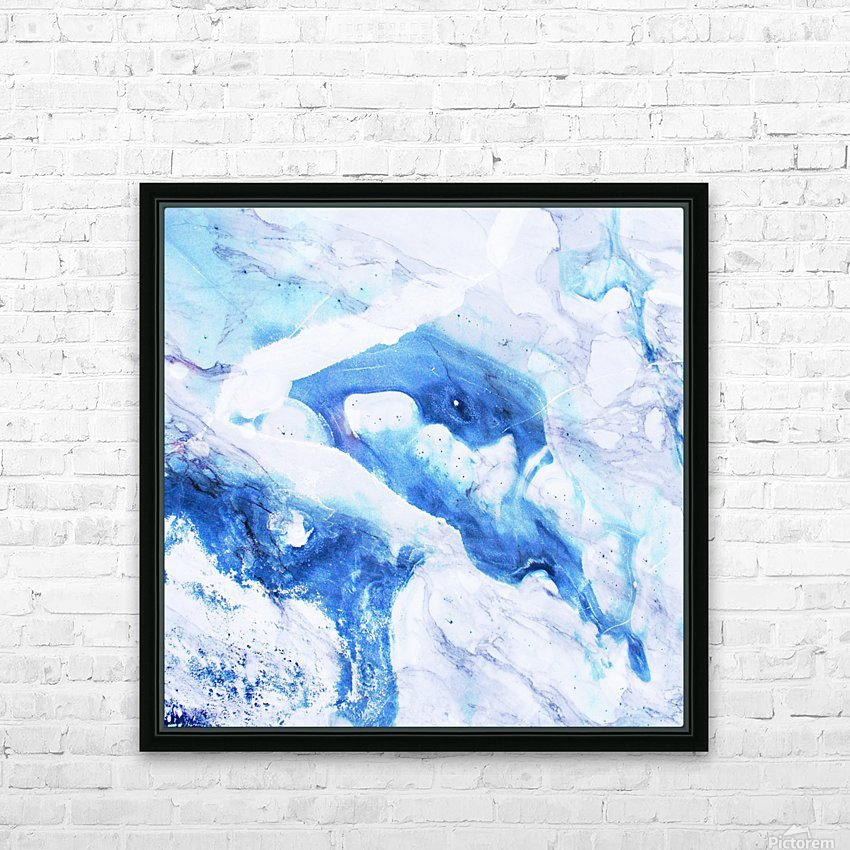 blue abstract marble HD Sublimation Metal print with Decorating Float Frame (BOX)
