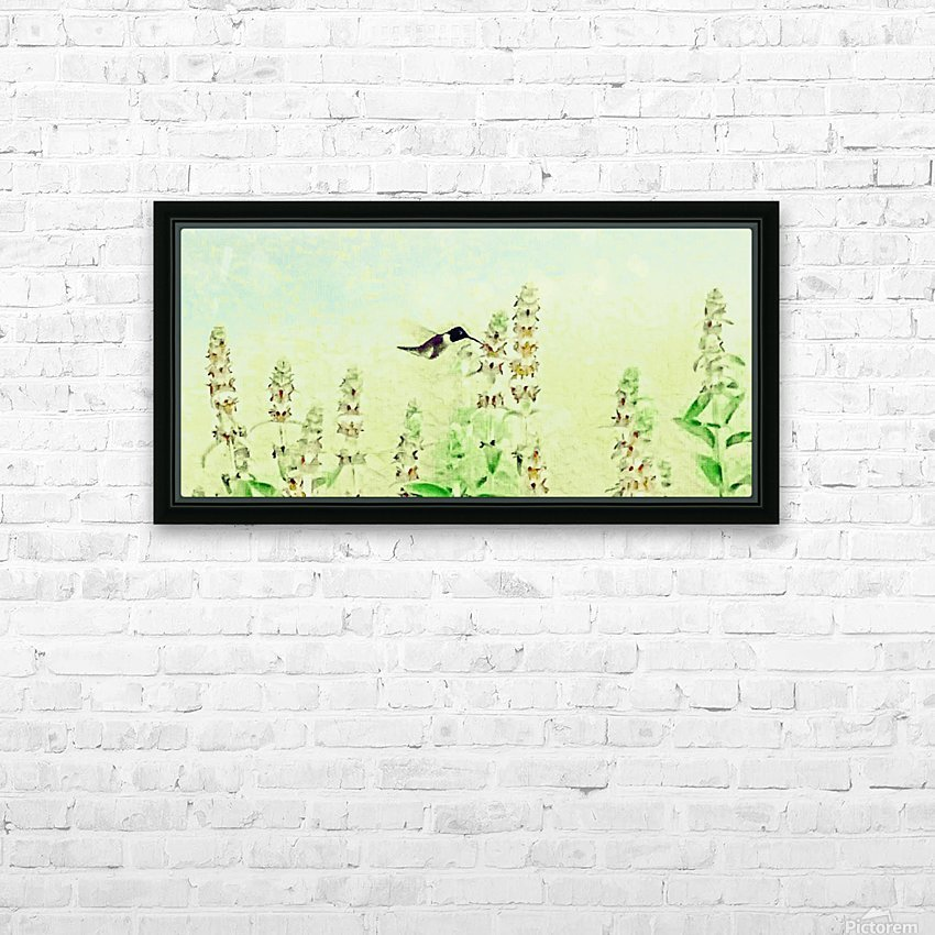 The Hummingbird HD Sublimation Metal print with Decorating Float Frame (BOX)