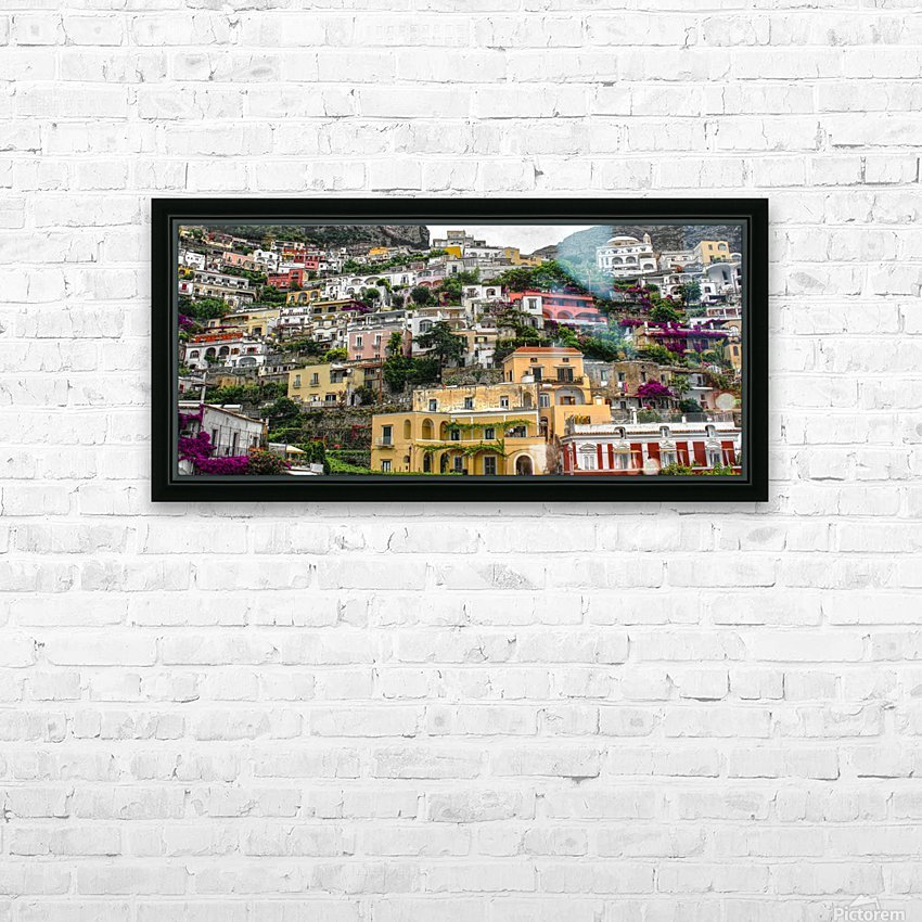 Positan village -  colourful houses HD Sublimation Metal print with Decorating Float Frame (BOX)