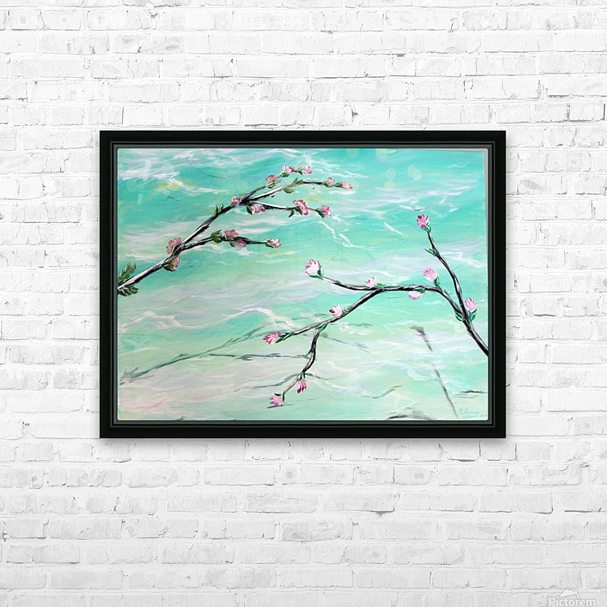 Spring is in the air HD Sublimation Metal print with Decorating Float Frame (BOX)
