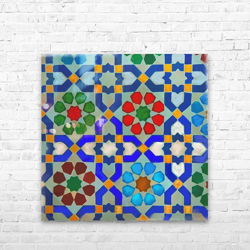 MOROCON TILES  1 HD Sublimation Metal print with Decorating Float Frame (BOX)