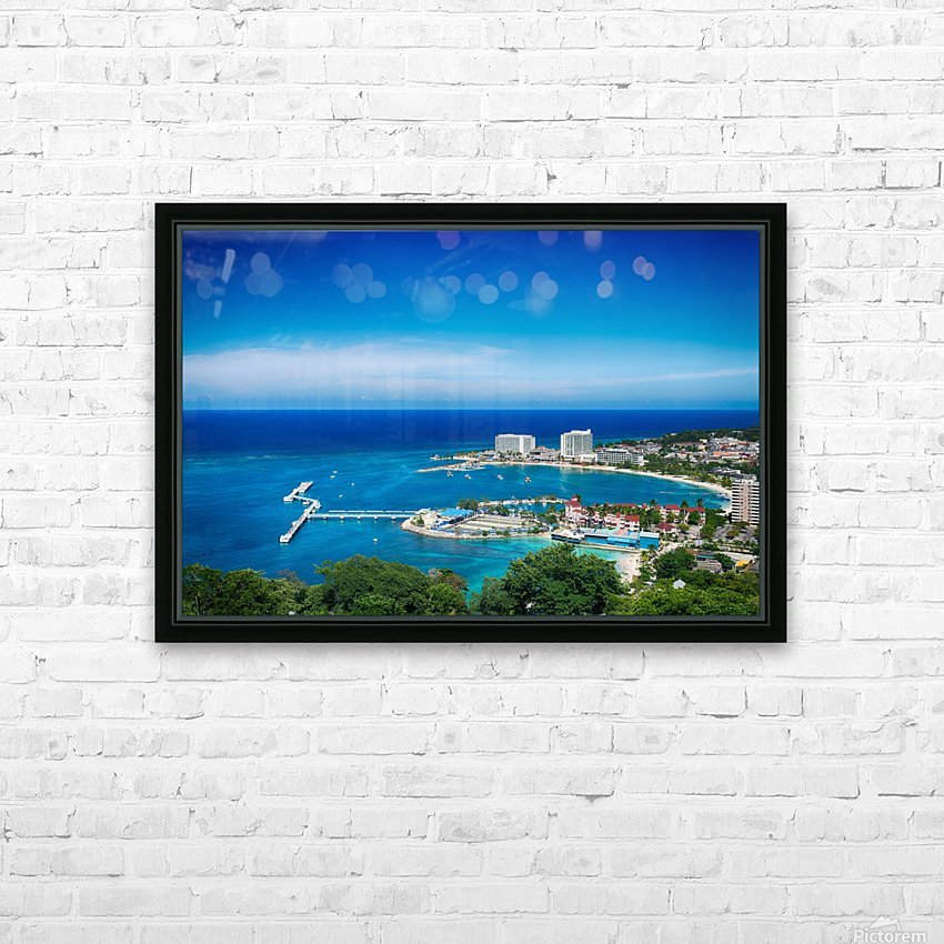 Ocho Rios HD Sublimation Metal print with Decorating Float Frame (BOX)