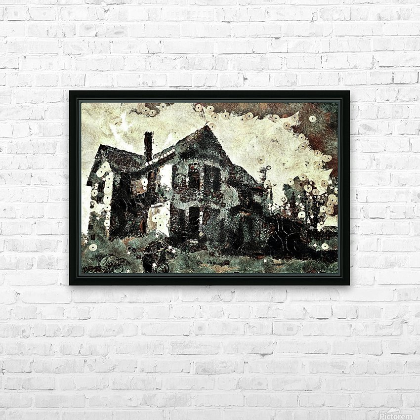 Haunted candy house HD Sublimation Metal print with Decorating Float Frame (BOX)