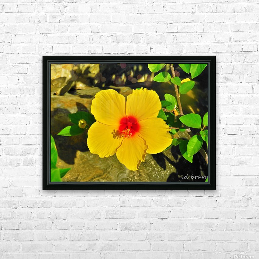 yellow & red HD Sublimation Metal print with Decorating Float Frame (BOX)