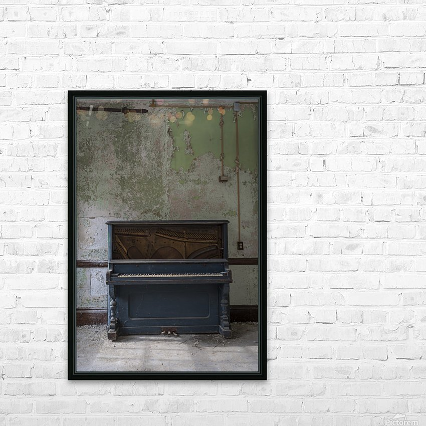 Abandoned Piano HD Sublimation Metal print with Decorating Float Frame (BOX)