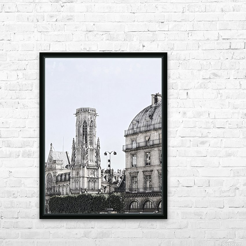 Notre Dame & Shade HD Sublimation Metal print with Decorating Float Frame (BOX)