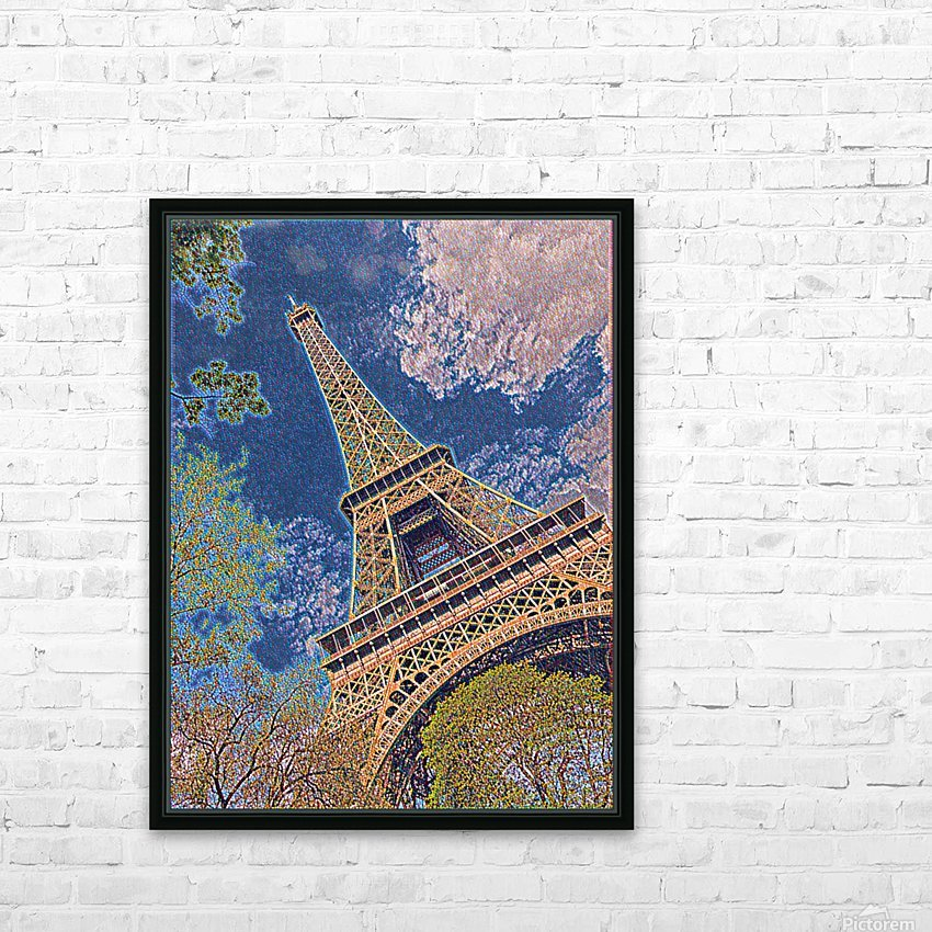 Eiffel Tower- Abstract HD Sublimation Metal print with Decorating Float Frame (BOX)