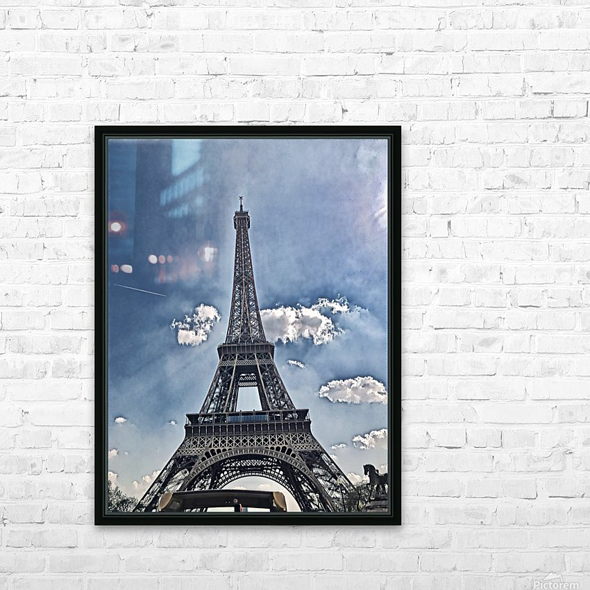 Sky & Eiffel HD Sublimation Metal print with Decorating Float Frame (BOX)