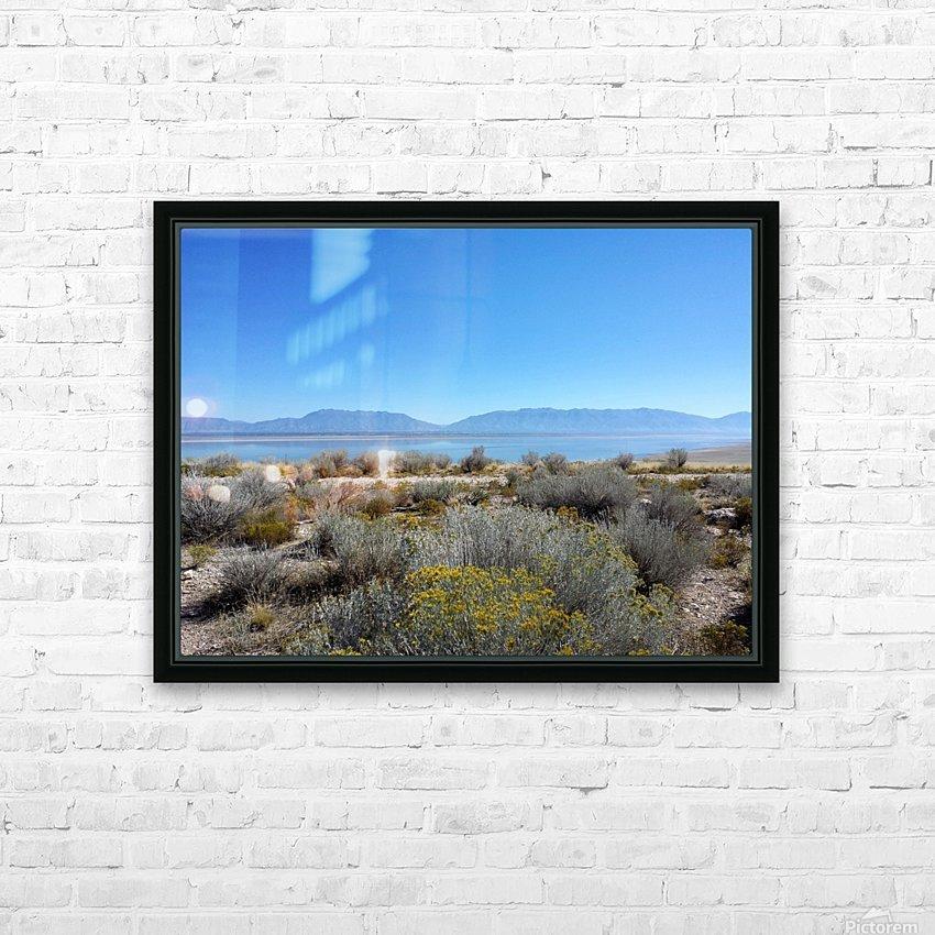 Salt Lake Vista HD Sublimation Metal print with Decorating Float Frame (BOX)