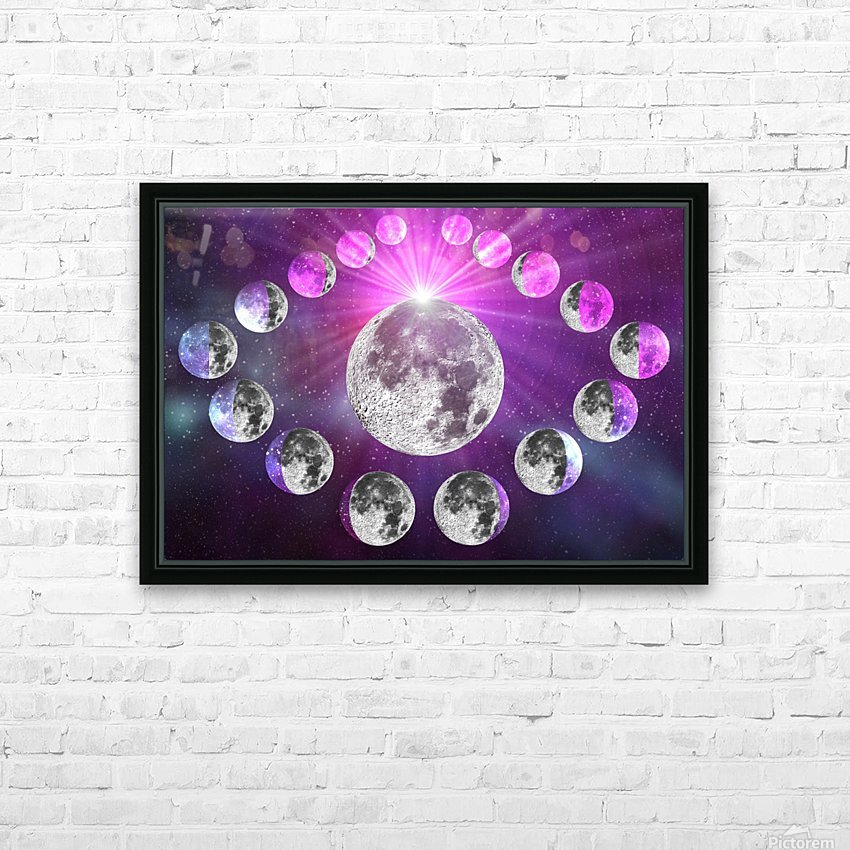 Multi-phase Moonlight HD Sublimation Metal print with Decorating Float Frame (BOX)