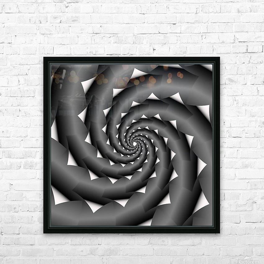 3d Abstract Spiral Design HD Sublimation Metal print with Decorating Float Frame (BOX)