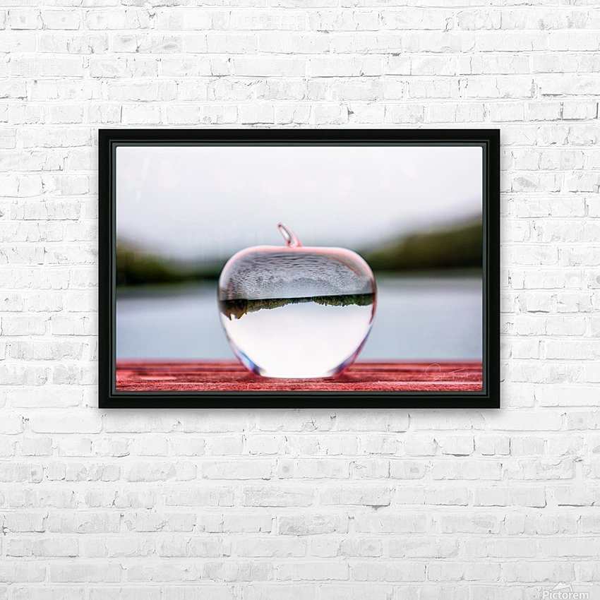 La pomme est dans le ver(re) HD Sublimation Metal print with Decorating Float Frame (BOX)