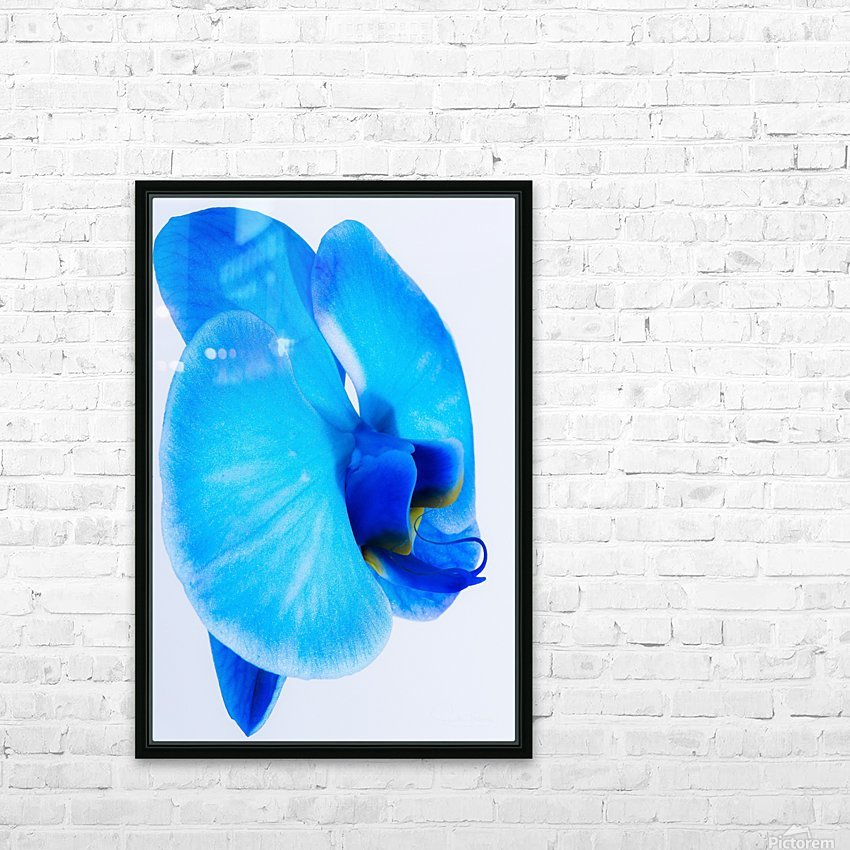 ORCHIDÉE BLEUE HD Sublimation Metal print with Decorating Float Frame (BOX)