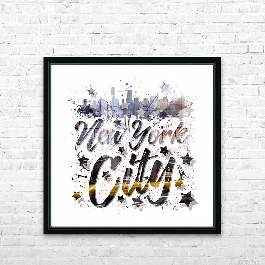 City-Art NYC Composing | Typography HD Sublimation Metal print with Decorating Float Frame (BOX)