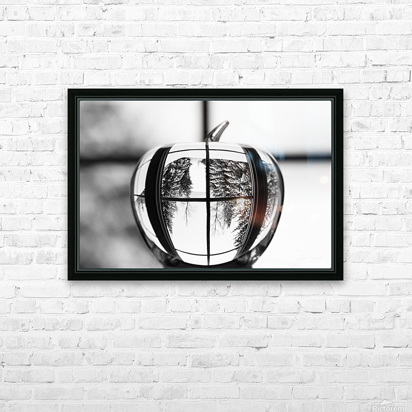L'hiver est dans la pomme HD Sublimation Metal print with Decorating Float Frame (BOX)