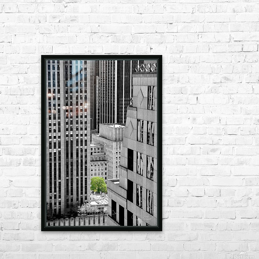 Forêt urbaine HD Sublimation Metal print with Decorating Float Frame (BOX)