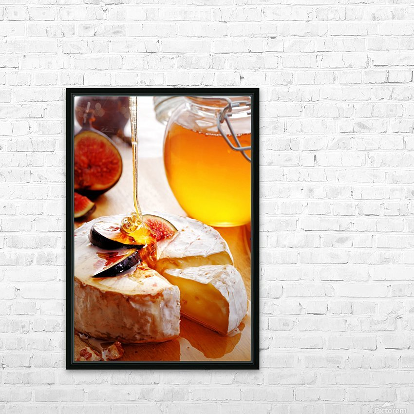 Brie Cheese with Figs and honey HD Sublimation Metal print with Decorating Float Frame (BOX)